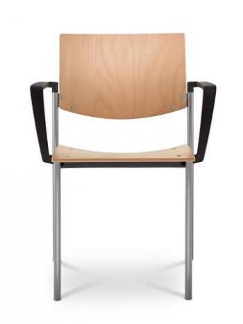 Jednací a konferenční židle SEANCE 092-K-B-N4, chromovaná konstrukce, područky LD SEATING 092-K-B-N4