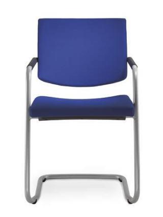 Jednací a konferenční židle SEANCE 096-KZ-N2, konstrukce efekt hliník