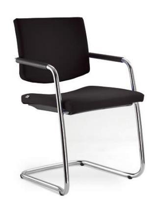Jednací a konferenční židle SEANCE 096-KZ-N4, chromovaná konstrukce