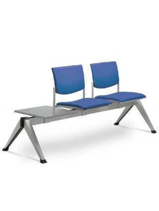 Multisedák dvoumístný SEANCE 099/2T-N2, stoleček, podnož v barvě efekt hliník