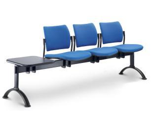 Multisedák třímístný DREAM 140/3T-N2, konstrukce efekt hliník, stolek