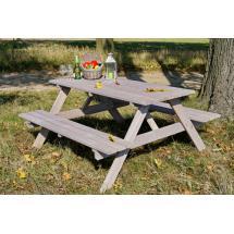 Zahradní nábytek - Set PIKNIK - 160 cm, šedá