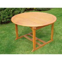 Zahradní stůl QTC 1164 Ø 120cm, rozkládací