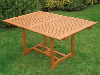 Zahradní stůl QTC 47063, 150/200x100cm, rozkládací