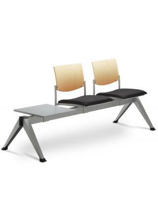 Multisedák dvoumístný SEANCE 099/V-2T-N1, podnož černá, stolek