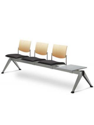 Multisedák třímístný SEANCE 099/V-3T-N1, stoleček, podnož černá