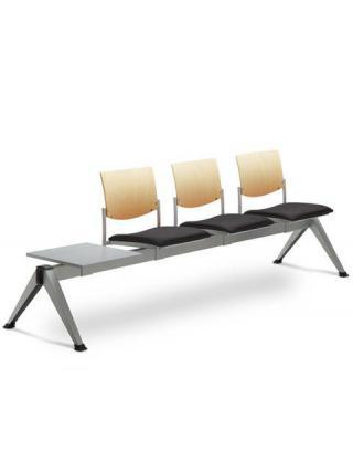 Multisedák třímístný SEANCE 099/V-3T-N2, stoleček, podnož efekt hliník