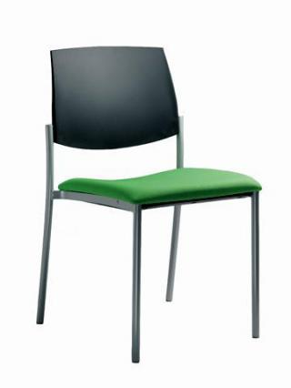 Jednací a konferenční židle SEANCE ART, 190-K-N1,  černá konstrukce