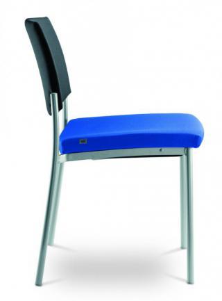 Jednací a konferenční židle SEANCE ART, 190-K-N4,  chromovaná konstrukce