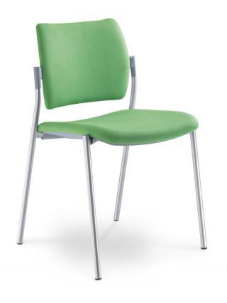 Jednací a konferenční židle DREAM 110-N2, konstrukce v barvě efekt hliník
