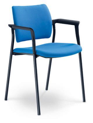 Jednací a konferenční židle DREAM 110/B-N1, konstrukce černá, područky