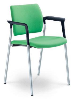 Jednací a konferenční židle DREAM 110/B-N2, konstrukce efekt hliník, područky