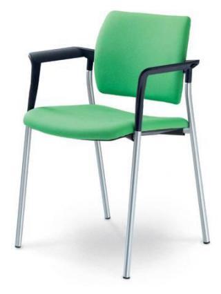 Jednací a konferenční židle DREAM 110/B-N4, konstrukce chromovaná, područky