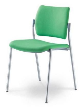 Jednací a konferenční židle DREAM 111-N2, konstrukce v barvě efekt hliník