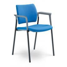 Jednací a konferenční židle DREAM 111/B-N1, konstrukce černá, područky