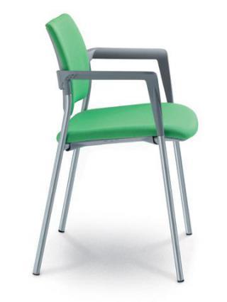 Jednací a konferenční židle DREAM 111/B-N2, konstrukce efekt hliník, područky