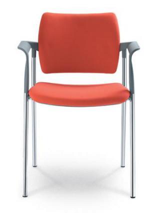 Jednací a konferenční židle DREAM 111/B-N4, konstrukce chromovaná, područky