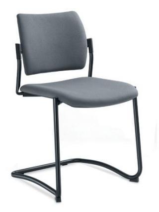 Jednací a konferenční židle DREAM 130-N1, konstrukce černá
