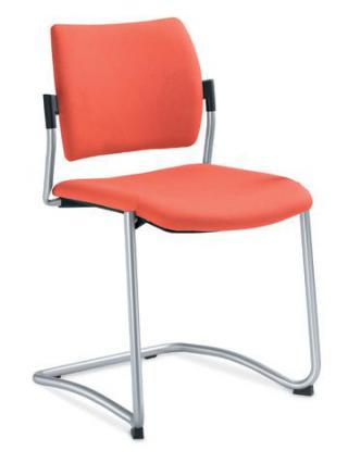 Jednací a konferenční židle DREAM 130-N2, konstrukce v barvě efekt hliník
