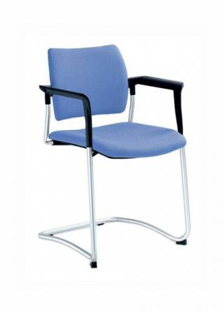 Jednací a konferenční židle DREAM 130/B-N1, konstrukce černá, područky