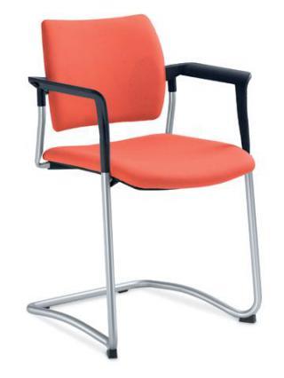 Jednací a konferenční židle DREAM 130/B-N2, konstrukce v barvě efekt hliník, područky