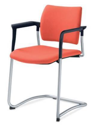Jednací a konferenční židle DREAM 130/B-N4, konstrukce chromovaná, područky