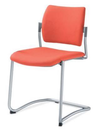 Jednací a konferenční židle DREAM 131-N2, konstrukce v barvě efekt hliník