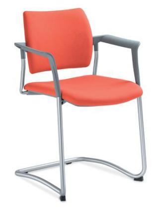 Jednací a konferenční židle DREAM 131/B-N4, konstrukce chromévaná, područky