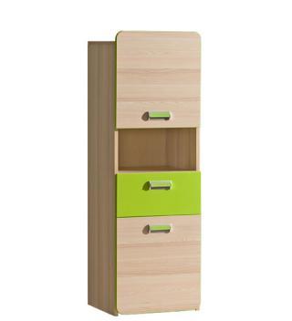 Skříňka se zásuvkou LIMO L4, zelená