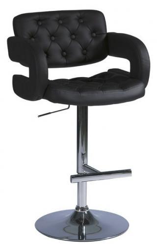 Barová židle, KROKUS C-141, barva černá