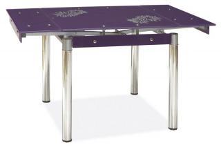 Jídelní rozkládací stůl, GD-082, barva fialová
