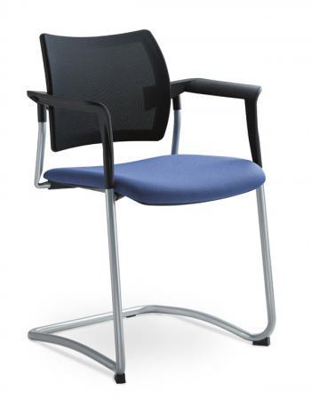 Jednací a konferenční židle DREAM 130/B-S-N4, konstrukce chromovaná, područky LD SEATING 130/B-S-N4