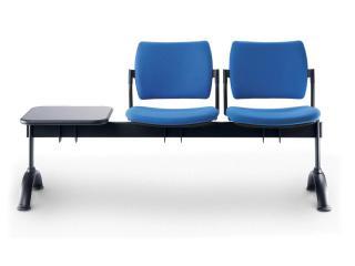Multisedák dvoumístný DREAM 140/2T-N1, konstrukce černá, stolek