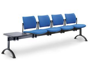 Multisedák čtyřmístný DREAM 140/4T-N1, konstrukce černá, stolek