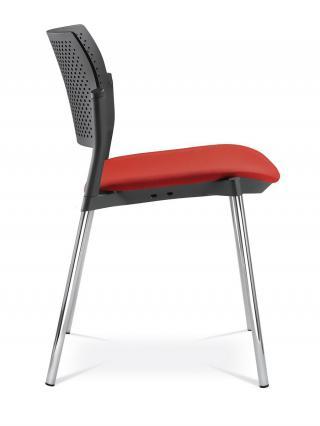 Jednací a konferenční židle DREAM+ 100-BL-N2, konstrukce  efekt hliník