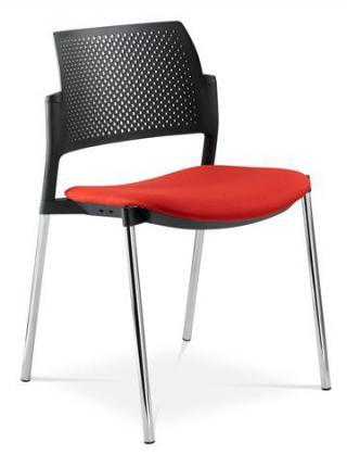 Jednací a konferenční židle DREAM+ 100-BL-N4, konstrukce chromovaná