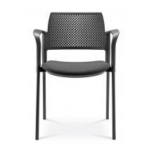 Jednací a konferenční židle DREAM+ 100-BL/B-N1, konstrukce černá, područky
