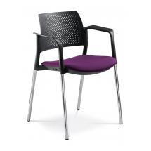 Jednací a konferenční židle DREAM+ 100-BL/B-N4, konstrukce chromovaná, područky