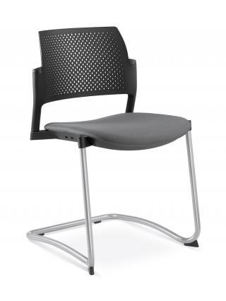 Jednací a konferenční židle DREAM+ 101-BL-N2, konstrukce efekt hliník