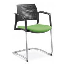 Jednací a konferenční židle DREAM+ 101-BL/B-N1, konstruk černá, područky