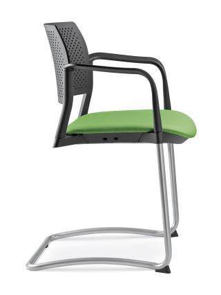 Jednací a konferenční židle DREAM+ 101-BL/B-N4, konstrukce chromovaná, područky