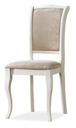 Jídelní čalouněná židle, OP-SC II, barva bílá