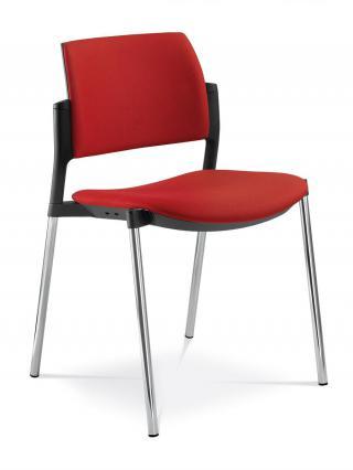 Jednací a konferenční židle DREAM+ 103-BL-N4, konstrukce chromovaná