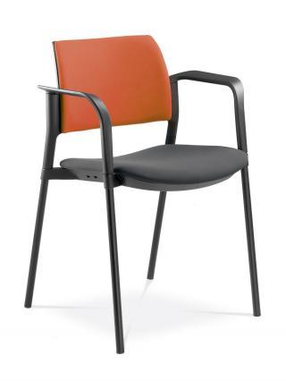 Jednací a konferenční židle DREAM+ 103-BL/B-N1, konstrukce černá, područky