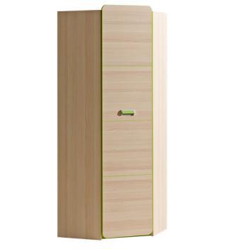 Rohová šatní skříň LIMO L14, zelená