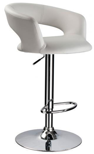 Barová židle KROKUS C-328, barva bílá