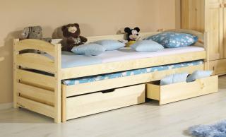 Dětská postel TONČA, rozkládací, úložný prostor