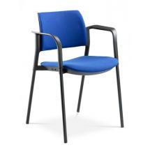 Jednací a konferenční židle DREAM+ 103-BL/B-N2, konstruk efekt hliník, područky