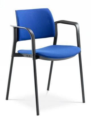Jednací a konferenční židle DREAM+ 103-BL/B-N4, konstrukce chromovaná, područky