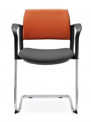 Jednací a konferenční židle DREAM+ 104-BL/B-N2, konstrukce efekt hliník, područky